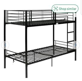 Brand new black bunk bed frame