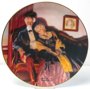 "Norman Rockwell ""End of Day"" Collector Plate"