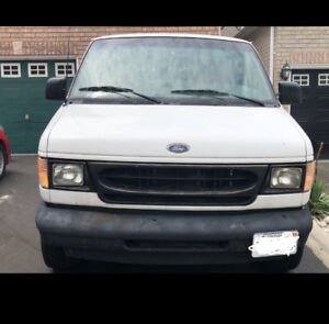 2002 Ford E350 White Van with Driveway Sealing Equipment