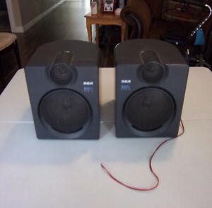 2 RCA BASS REFLEX SPEAKERS
