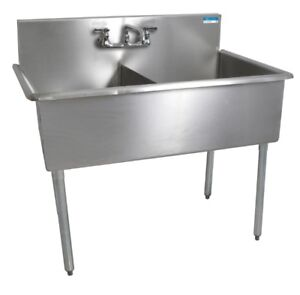 Commercial Two Compartment Sink