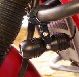 Miniature motorcycle LED driving lights LSK2003, fog, spot, high beam, 2x12 W