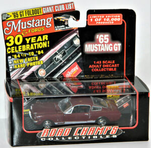 Road Champs 1/43 '65 Mustang GT Diecast Car