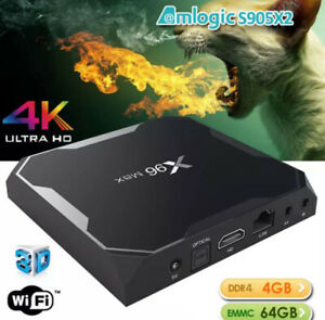 X96MAX - Android 8.1 S905X2 TV BOX - TV Shows, Movies, Games