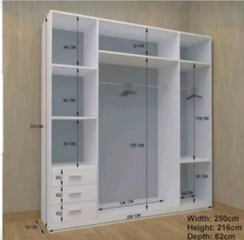 💥💯SALE WILL END SOON: 2 DOORS SLIDING WARDROBE WITH FULL MIRRORS ALL