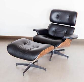 EAMES CHAIR LEATHER $450 (CLARKSON)