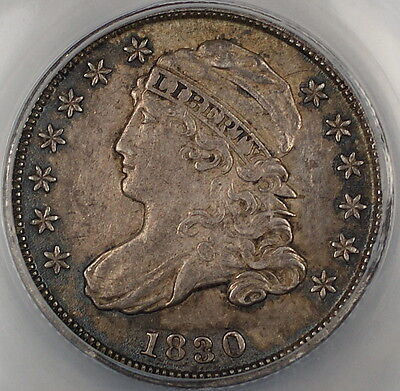Click now to see the BUY IT NOW Price! 1830 CAPPED BUST SILVER DIME 10C ANACS AU 55 DETAILS PLEASING EXAMPLE