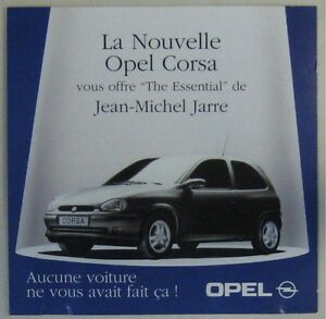 opel corsa cd publicitaire jean michel jarre 1985. Black Bedroom Furniture Sets. Home Design Ideas