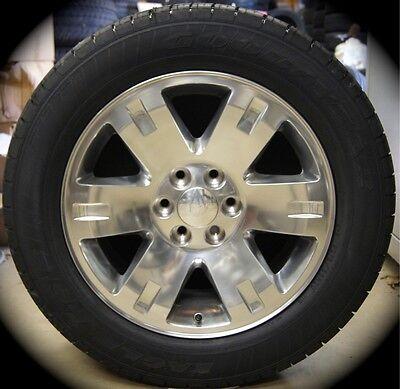 "New GMC Sierra Yukon XL Factory Polished 20"" Wheels Rims Tires Silverado"