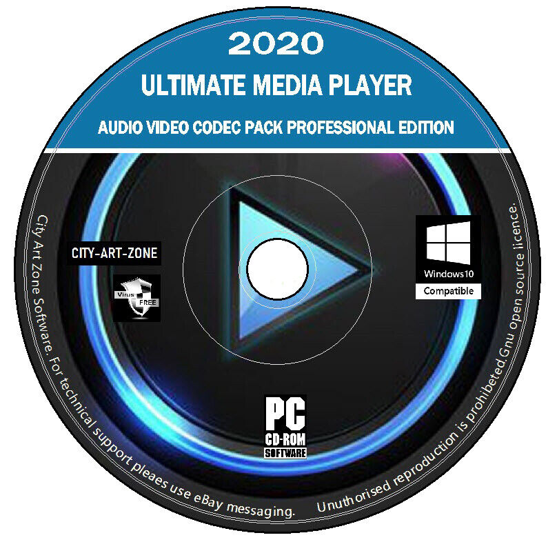 Ultimate Media Player & Audio Video Codec Pack - New Professional Edition PC DVD