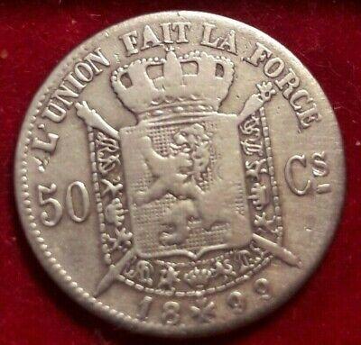 50 centimes Cents 1899, LEOPOLD II Belgique Belgïe
