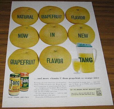 1950'S AD~TANG INSTANT BREAKFAST DRINK~GRAPEFRUIT FLAVOR BX-LA
