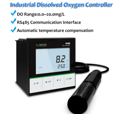 Industrial Dissolved Oxygen Controller Water Quality Tester DO Meter 0~20.0mg/L