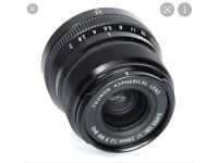 Fujifilm XF 23mm f/2 lens