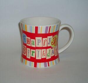 RUSS-Berrie-Happy-30th-Birthday-Colourful-Ceramic-Mug-Cup-Gift-330ml