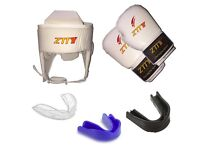 Boxing Sparring Set, Headguard, Gloves, 2 Gumshields, ALL SIZES, FREE DELIVERY