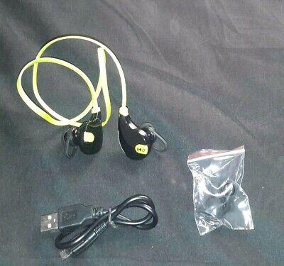 Wireless Bluetooth Inner Ear Stereo Headset Lime Green