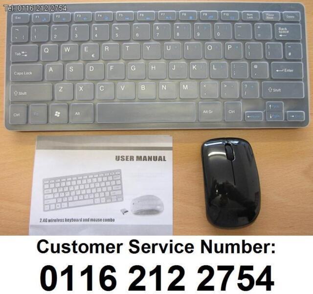 Black Wireless MINI Keyboard & Mouse for Raspberry PI