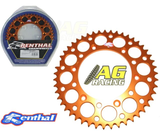 Renthal Ultralight Rear Sprocket Orange 48T KTM XC-FW 450 03-12 SXF 505 08-12