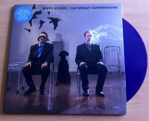 BIFFY-CLYRO-SATURDAY-SUPERHOUSE-7-BLUE-VINYL-PLUS-POSTER