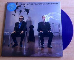 BIFFY-CLYRO-SATURDAY-SUPERHOUSE-7-BLUE-VINYL-PLUS-POSTER