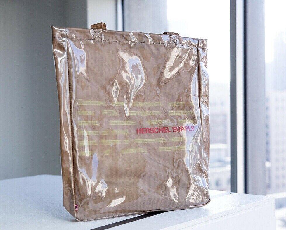 Herschel Supply Co x LA Men's Market Brown PVC Nylon Tote Ba