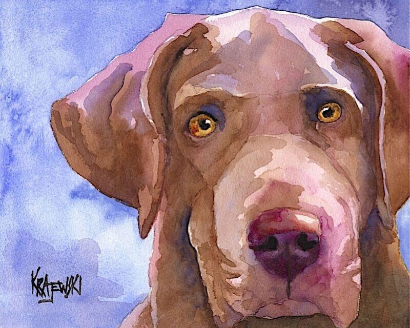 Chesapeake Bay Retriever 11x14 signed art PRINT painting