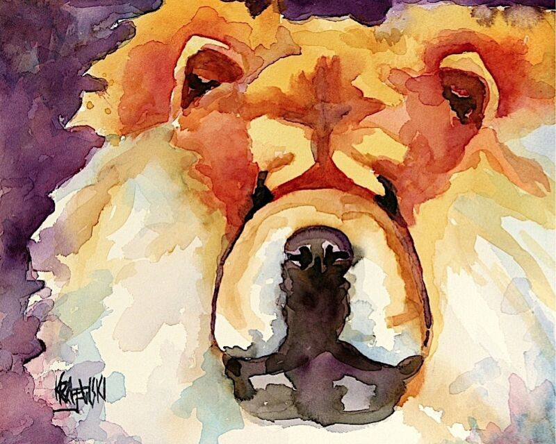 Chow Chow Dog 11x14 signed art PRINT from painting RJK