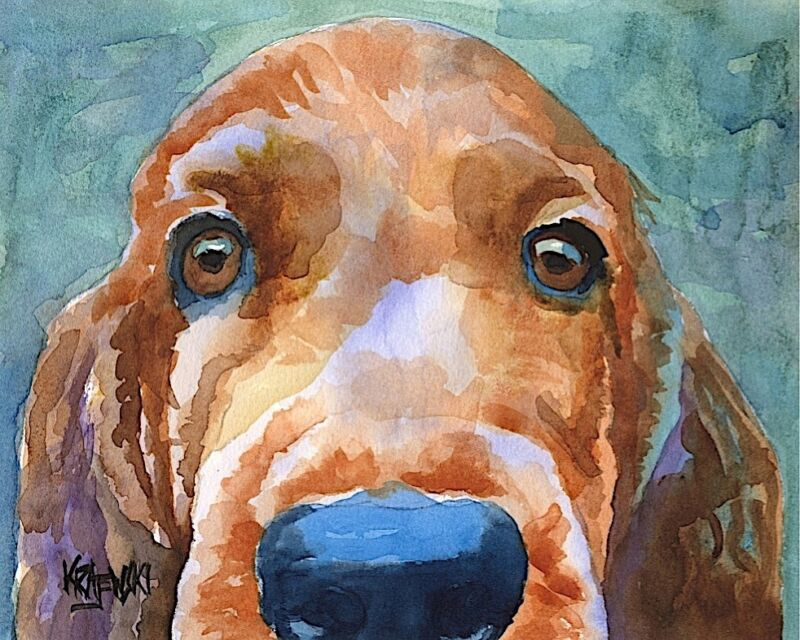Irish Setter 11x14 art PRINT from painting, Gifts, Poster, Watercolor, Memorial