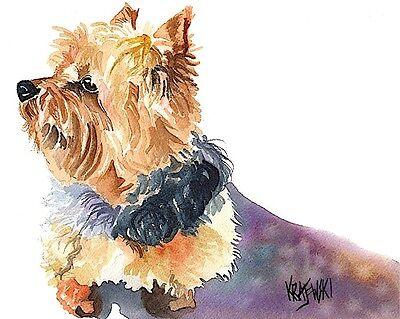 Jack Russell Terrier Art Print Signed by Artist Ron Krajewski Painting 8x10 Dog
