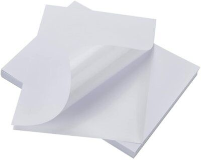 Sticker Labels 100 Sheets White Paper For Printer Full Size 8.5x11 In. New