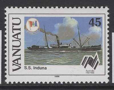 VANUATU SG497w 1988 45v AUSTRALIAN SETTLEMENTS WMK CROWN TO RIGHT OF CA MNH
