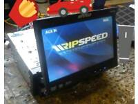 RIPSPEED DV720 Audio/Video Car CD player for sale. Touch screen.