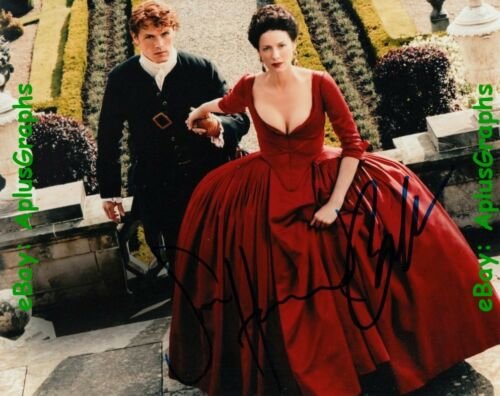 CAITRIONA BALFE with SAM HEUGHAN.. Outlander - SIGNED