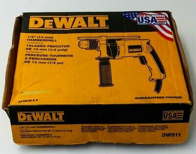 Dewalt Dw511 12 In. 8.5amp Variable Speed Reversible Hammer Drill Spg036260