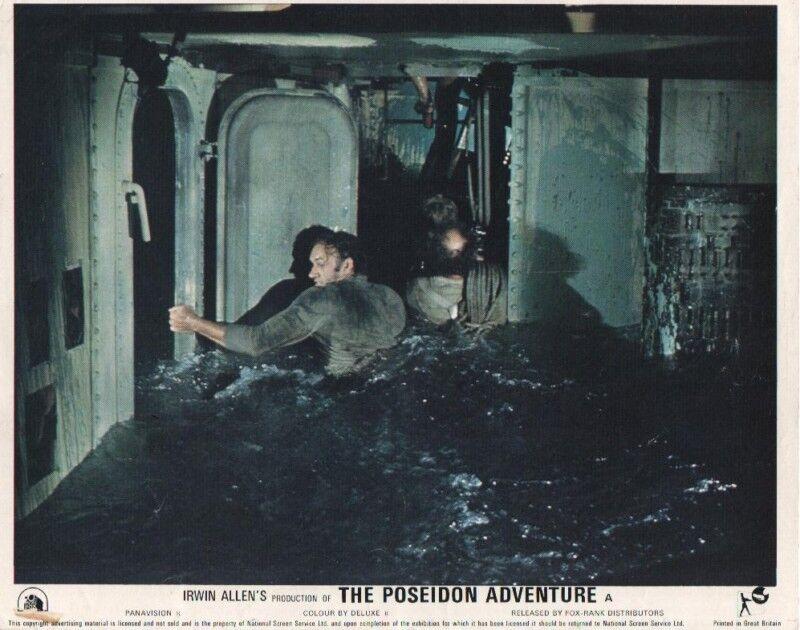 THE POSEIDON ADVENTURE lobby card print - GENE HACKMAN, SHELLY WINTERS