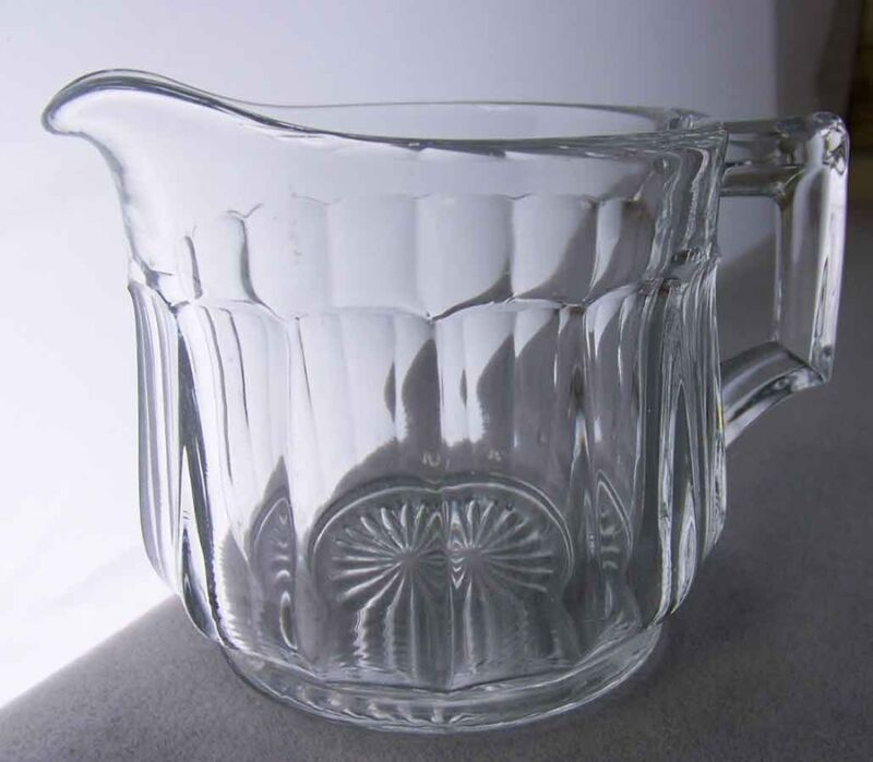 Antique Heisey Glass #393 Narrow Flute Hotel Creamer Crystal Marked