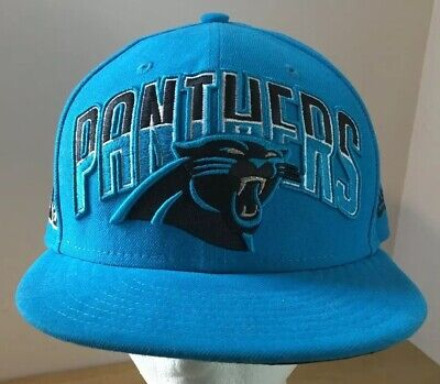 Carolina Panthers Fitted Hat Cap 7 1/2 New Era 59fifty NFL Carolina Panthers Fitted Hat