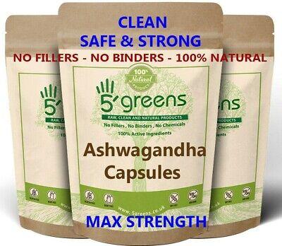 Ashwagandha Extract Capsules 8,000mg (24mg Withanolides) Natural Vegan Capsules