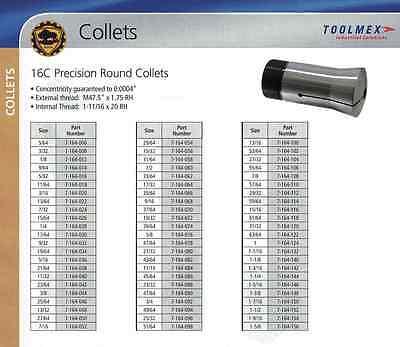 Bison 16c Collet 1-14tir .0004 Made In Poland Internal External Thread