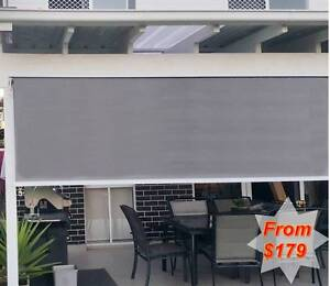 Outdoor Roll Down, Straight Drop Roller Blind Awning Ingleburn Campbelltown Area Preview