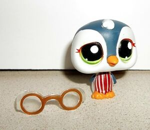 NEW Littlest Pet Shop LPS #1494 Alberg Icely Penguin With GlassesPet Penguin