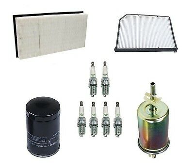 Jaguar S-type 00-03 Air Cabin Fuel Engine Oil Filters Spark Plugs Kit Ships Fast on Sale
