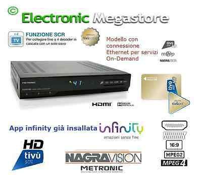 RICEVITORE DECODER TIVU SAT DIGITALE SAT + SCHEDA TV SAT HD METRONIC 441665