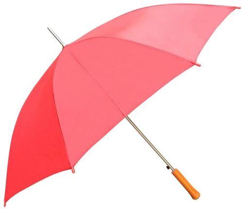 "CKB Products Wholesale Rain Umbrella - Red - 48"" Across - Rip-Resistant Polyeste"