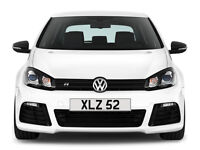 XLZ 52 – Price Includes DVLA Fees – Cherished Personal Private Registration Number Plate