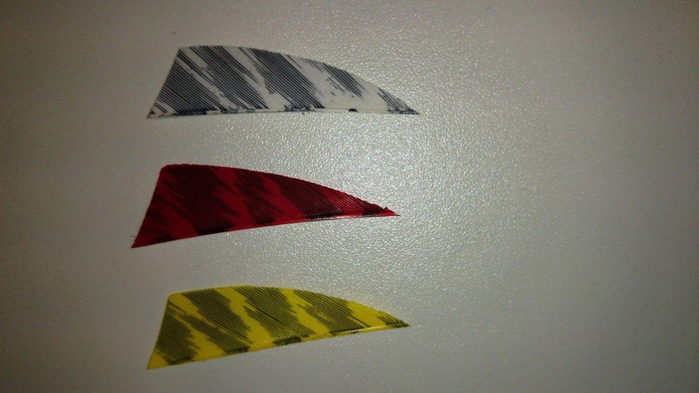 12 Stück 2 Zoll Gateway Rayzr barred Truthahnfeder Naturfeder Bogensport