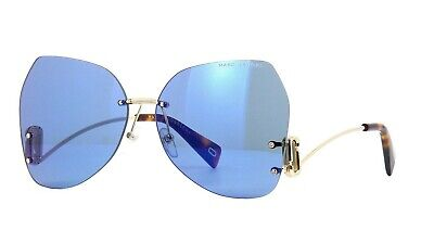 Marc Jacobs Marc 373/S Women's Sunglasses PJP/2Y Mirrored Blue Gold 63mm (Marc Jacobs Butterfly Sunglasses)