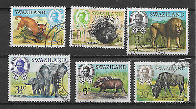 SWAZILAND , SOUTH AFRICA , 1969 , SET OF 6 STAMPS , PERF , USED