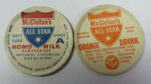 "Vtg Milk Bottle Cap 1.25"" McCLELLAN"